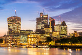 London downtown with River Thames sunset - 217392613