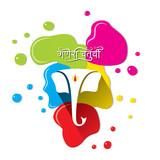 illustration of ganesh chaturthi festival poster