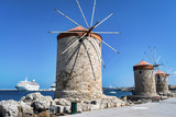 Rhodes three Windmills