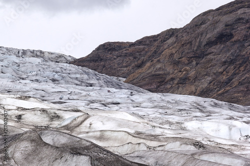 Foto Murales View to the ice front of the glacier Flaajokull