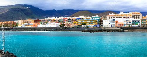Fotobehang Freesurf Tenerife holidays - tranquil pictusresque town Puertito de Guimar. Canary islands