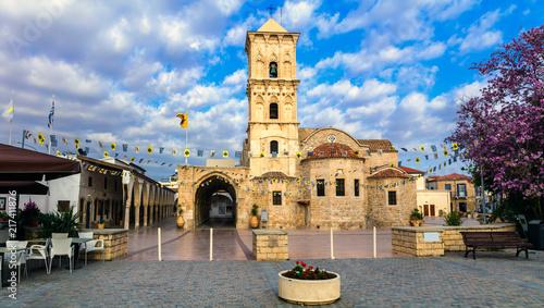 Fotobehang Freesurf Landmarks of Cyprus - Byzantin church Saint Lazaros in Larnaka town.