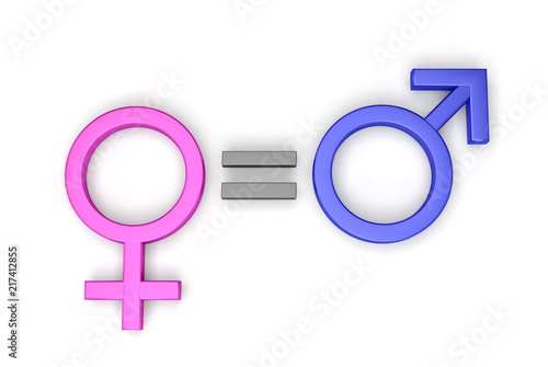 égalité hommes femmes 3D
