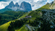 Quadro beautiful aerial photographs form the mountains of the Dolomites