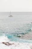 Catamaran sur l'océan, île de la réunion