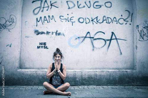 Obraz na płótnie street yoga 01