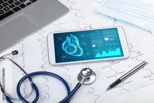 Foto Murales Close up of modern medical diagnostics concept