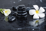 Plumeria flower and spa stones - 217474838