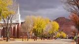 Downtown Main Street Autumn Season Kanab Utah - 217478686