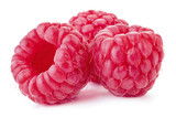 fresh ripe raspberry fruits isolated on white background