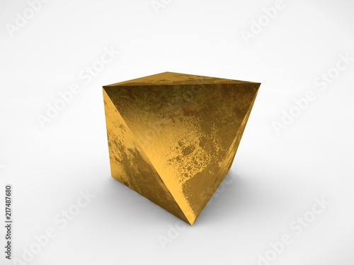 The Image Of Gold Prisms With Dark Spots On Surface A Symbol Firmness