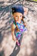 kid riding on skateboard
