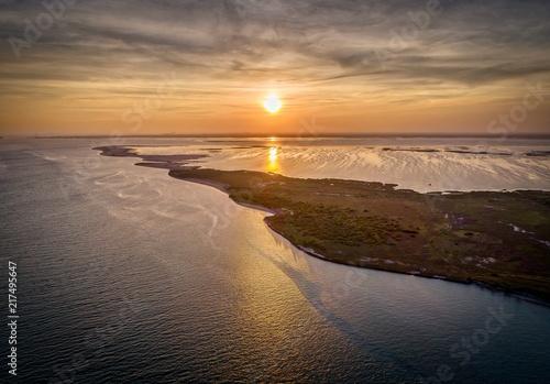 Foto Spatwand Strand Texas Gulf Coast Sunset