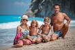 Quadro Family Photo On The Beach