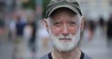 Elderly caucasian man in city face portrait - 217499077
