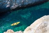 Cave of Papafragas beach in Milos island, Cyclades, Greece. - 217513876