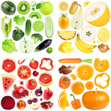 Collection of color fruits and vegetables - 217517475