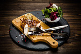 Grilled chicken fillet and vegetables - 217517815