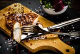 Grilled chicken fillet and vegetables - 217517832
