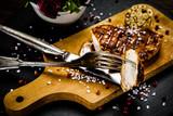 Grilled chicken fillet and vegetables - 217517845