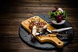 Grilled chicken fillet and vegetables - 217517882