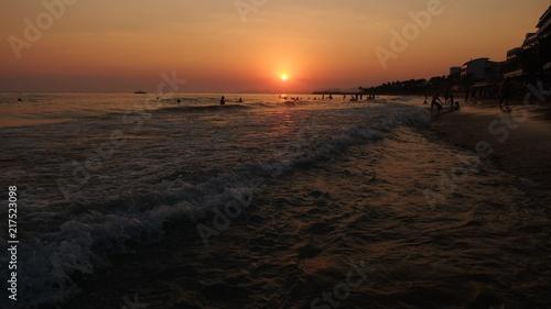 Canvas Zee zonsondergang beautiful sunset