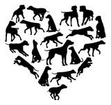 Dalmatian Dog Heart Silhouette Concept