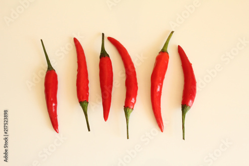 Foto Spatwand Hot chili peppers hot red pepper chili