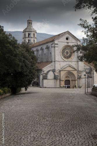 Foto Murales Fossanova Abbey,  Cistercian monastery in Priverno, in the province of Latina, Lazio, Italy