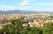 Quadro cityscape view of Florence or Firenze city Italy - Arno river - landscape from above