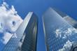 canvas print picture - Moderne Bank Gebäude in Frankfurt am Main
