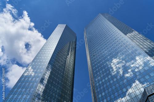 canvas print picture Moderne Bank Gebäude in Frankfurt am Main