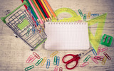 School supplies. A place for an inscription. Back to school. - 217553275