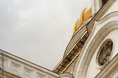 Szczegóły Chrystusa Zbawiciela w katedrze w Moskwie, Rosja, 2018, kwiecień