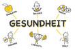Strichfiguren Chart: Gesundheit