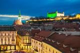 Night skyline of Bratislava, Slovakia