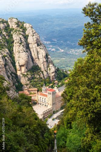 Canvas Barcelona Montserrat Kloster Barcelona Spanien Hochformat Katalonien Reise Aussicht