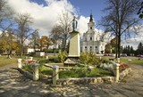 Statue of Virgin Mary in Koden. Poland - 217570001