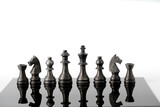 Chess business concept, leader teamwork & success