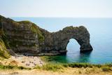 Durdle Door, Dorset in UK, Jurassic Coast World Heritage Site - 217572092