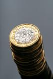New British one pound coin in studio - 217573065