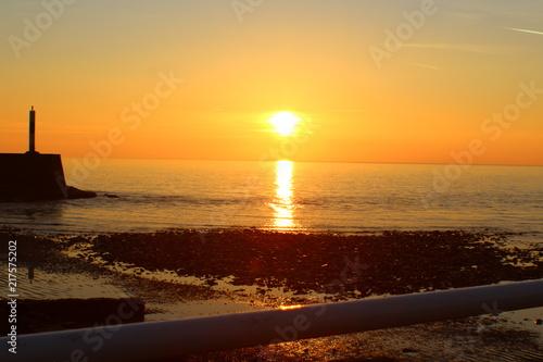 Foto Spatwand Strand Beach Sunset