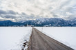 Panoramic view of winter scene in Fussen, Bavaria, Germany