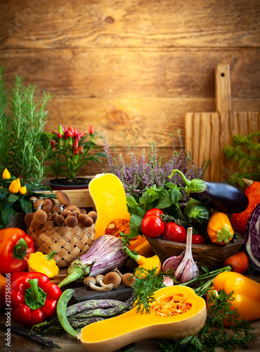Foto Murales Assorted fresh vegetables