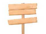 Blank wooden signpost isolated with clipping path - 217590446