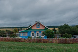 Authentic old wooden rural house in Russia. - 217591630