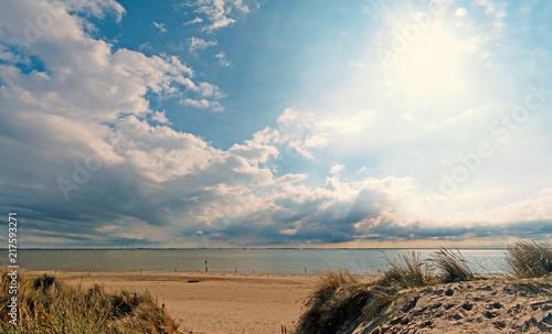 Canvas Noordzee Nordsee, Strand auf Langeoog: Dünen, Meer, Entspannung, Ruhe, Erholung, Ferien, Urlaub, Glück, Freude,Meditation :)