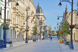 Łódź, Polska- ul. Piotrkowska. © whitelook