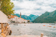 beautiful view of Perast town in Montenegro