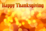 Thanksgiving orange background - 217603443